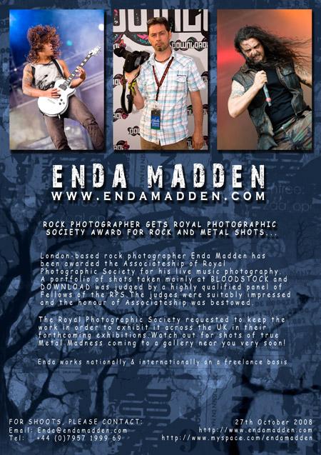 Enda Madden gets Royal Photographic Society award - press release