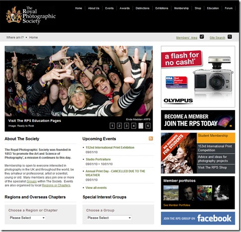 Enda Madden Photography on RPS homepage