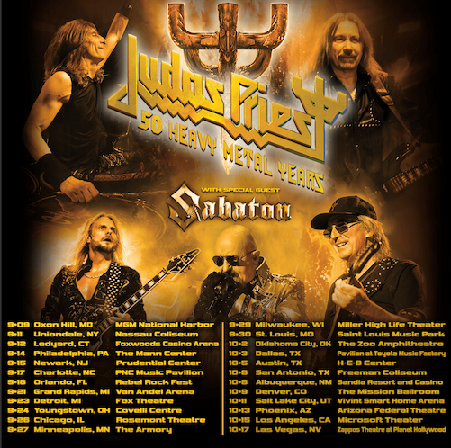 SABATON Announce US Tour With Judas Priest
